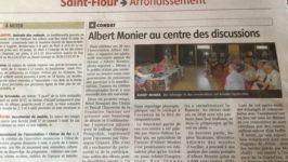 Albert Monier au centre des discussions